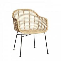 Hübsch REST Krzesło Ratanowe - Naturalne
