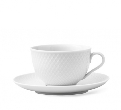 Lyngby Porcelain RHOMBE Filiżanka ze Spodkiem 240 ml