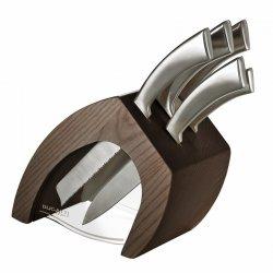 Casa Bugatti TRATTORIA Zestawy 5 Noży Kuchennych w Bloku ERGO - Drewno Ciemne