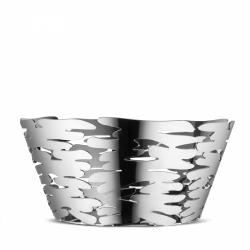 Alessi BARKET Misa - Kosz na Owoce 21 cm Srebrny