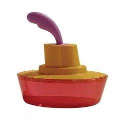A di Alessi SHIP SHAPE Maselniczka z Nożem do Smarowania - Pomarańczowa