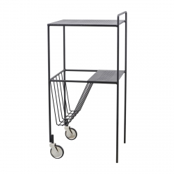 House Doctor USE Wózek - Stolik na Kółkach Czarny - Mały