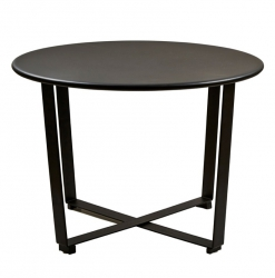 Villa Collection SIMPLY Okrągły Stolik Kawowy 62 cm Czarny