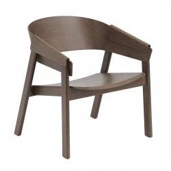 Muuto COVER LOUNGE Krzesło Drewniane - Ciemnobrązowe