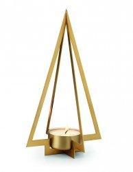 Philippi NAVIDAD Świecznik Świąteczny - Choinka 27 cm Złoty