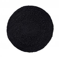 Sodahl ITS ALL NATURAL Okrągła Podkładka na Stół pod Naczynia z Konopii 35 cm 6 Szt. Czarna