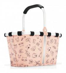 Reisenthel KIDS CATS AND DOG Koszyk Carrybag XS dla Dzieci - Różowy