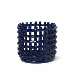 Ferm Living HOME Ceramiczny Kosz na Owoce / do Przechowywania 16 cm Granatowy