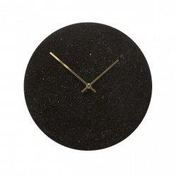 Hübsch CLOCK Marmurowy Zegar Ścienny - Czarny