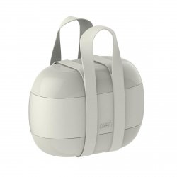 Alessi FOOD A PORTER Lunchbox - Pojemnik na Lunch - Szary