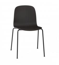 Muuto VISU TUBE BASE Krzesło Drewniane na Stalowej Ramie - Czarne