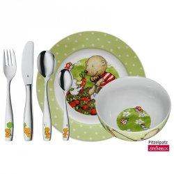 WMF Zestaw dla Dzieci - Sztućce + Porcelana 6 El. - Pitzenpatz