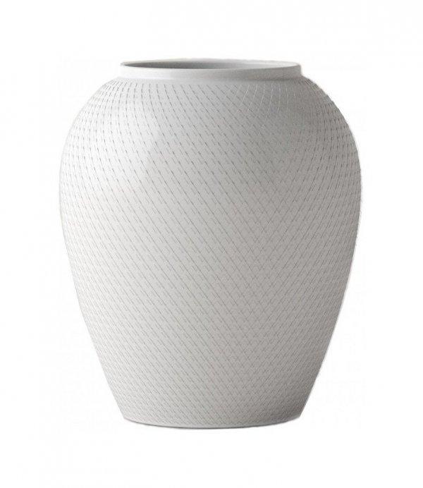 Lyngby Porcelain RHOMBE Wazon do Kwiatów 25 cm