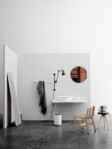 Menu BATH Uchwyt na Papier Toaletowy - Biały - Mocowanie Srebrne