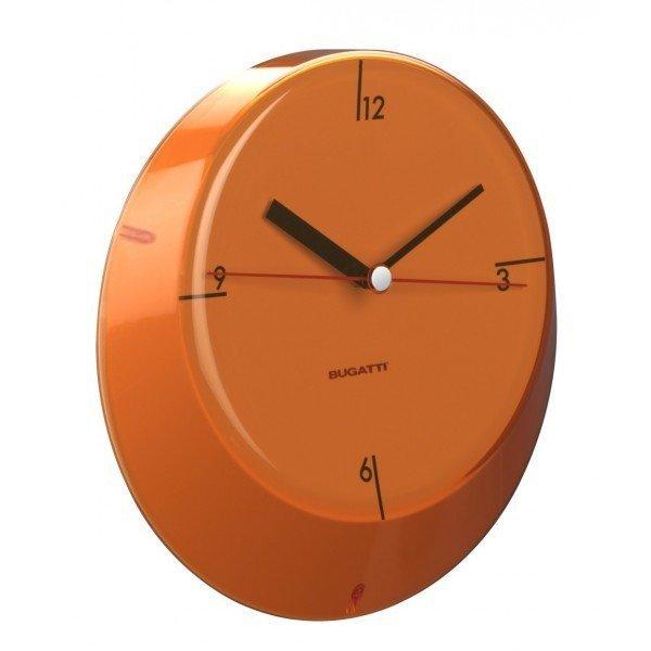 Casa Bugatti GLAMOUR Zegar Ścienny - Pomarańczowy
