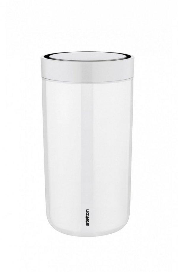 Stelton TO GO CLICK Stalowy Kubek Termiczny 200 ml Biały