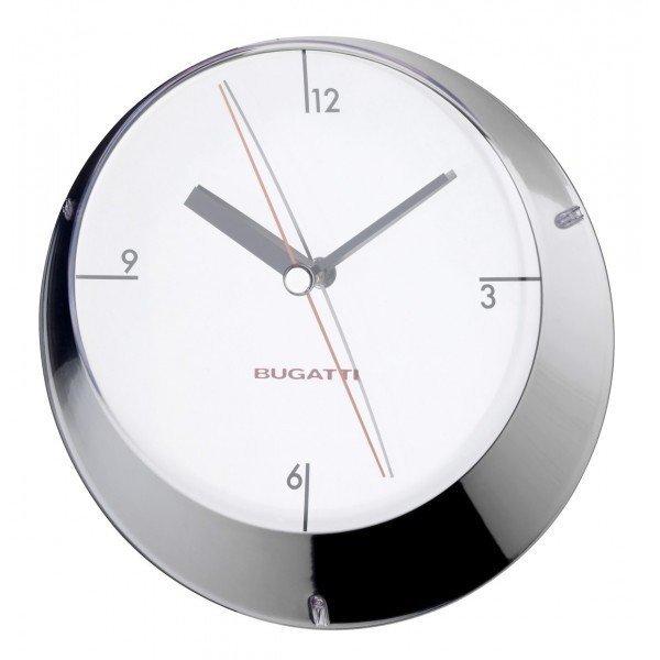 Casa Bugatti GLAMOUR Zegar Ścienny - Srebrny Chrom