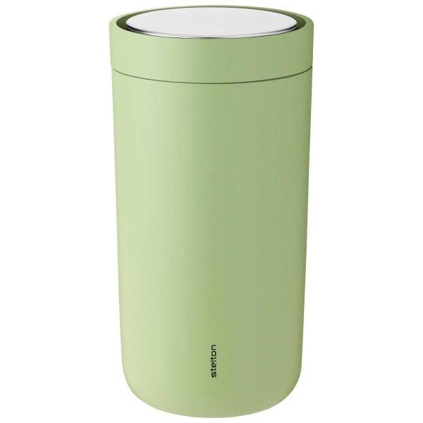 Stelton TO GO CLICK Stalowy Kubek Termiczny 200 ml Zielony Soft Green