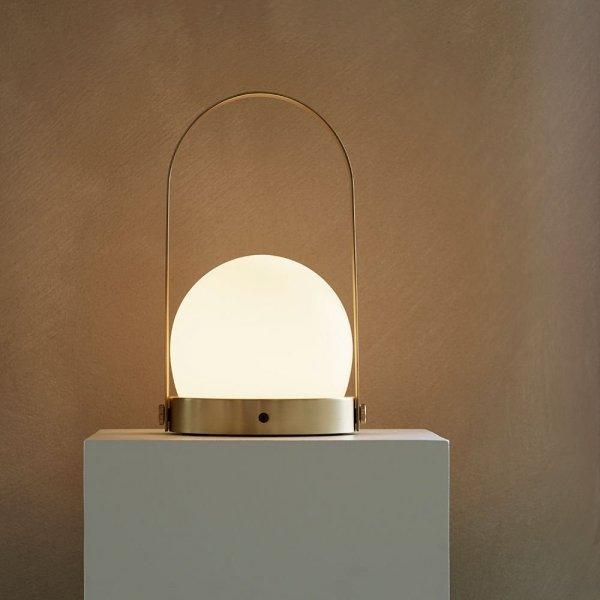 Menu CARRIE Lampion LED - Lampka Przenośna - Mosiądz