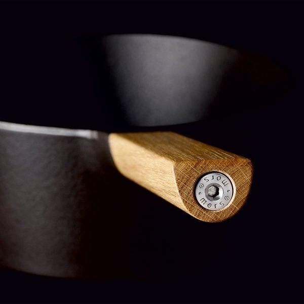 Morso SAUTÉPAN Patelnia 25 cm Żeliwna z Pokrywką - Uchwyt Drewniany