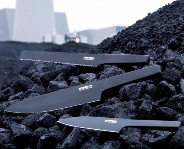Stelton PURE BLACK Nóż Szefa Kuchni 34 cm Czarny