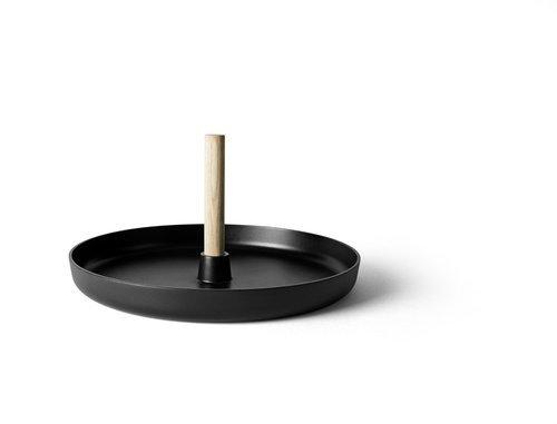 Menu FLIP Stołek Wielofunkcyjny - Stolik Kawowy - Jesion Czarny