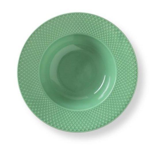 Lyngby Porcelain RHOMBE COLOR Talerz Głęboki 24,5 cm Zielony