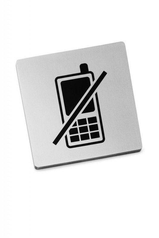 Zack INDICI Tabliczka Informacyjna - Zakaz Używania Telefonów Komórkowych