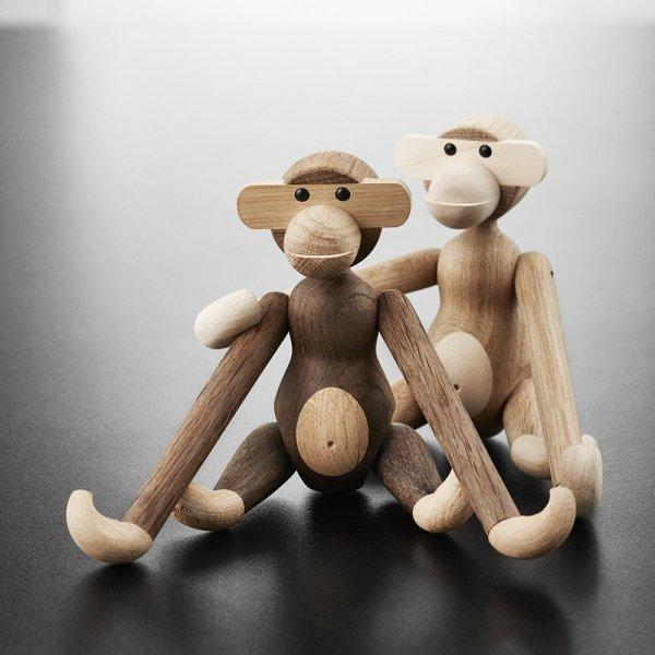 Kay Bojesen MONKEY Dekoracja - Figurka Drewniana Małpka Mała - Drewno Dębowe