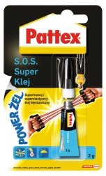 KLEJ SOS SUPER POWER ŻEL 2G PATTEX