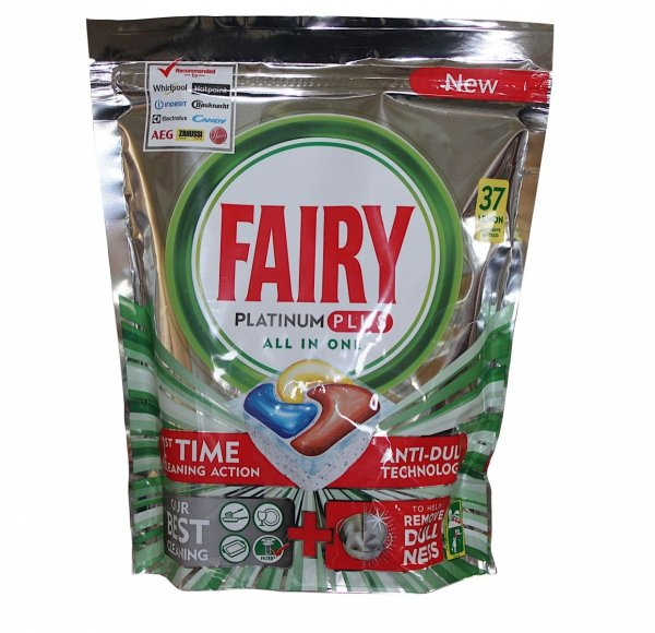 Fairy Platinum Plus Lemon kapsułki do zmywarki 37 szt.