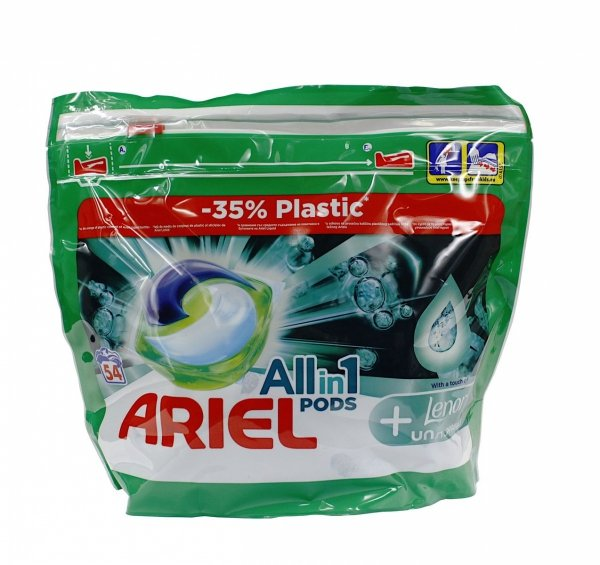 Ariel All in1 Pods + Lenor Unstoppables kapsułki do prania 54 szt.