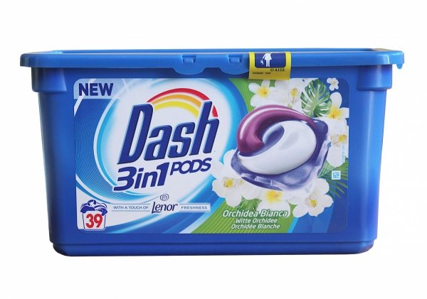 Dash 3in1 Witte Orchidee kapsułki do prania 39 szt.