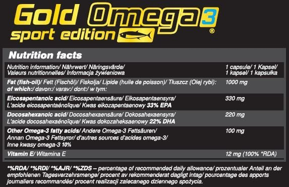 Olimp Gold Omega 3 sport edition 120caps