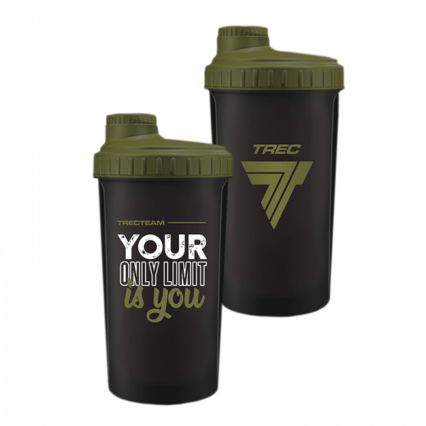 Trec Shaker 0,7 l BLACK-MILITARY GREEN - YOUR ONLY LIMIT IS YOU