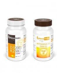 --- ZESTAW 1+1 --- Witamina D3 FORTE 4000IU + K2 MK7 (vitaMK7®) 100mcg - 60 kaps.