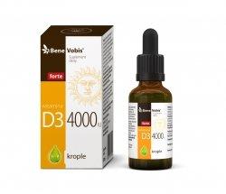 Bene Vobis - Witamina D3 4000IU w oleju konopnym - 30 ml