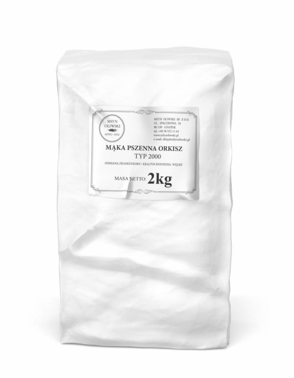 Mąka pszenna orkiszowa typ 2000 (razowa) - 2kg