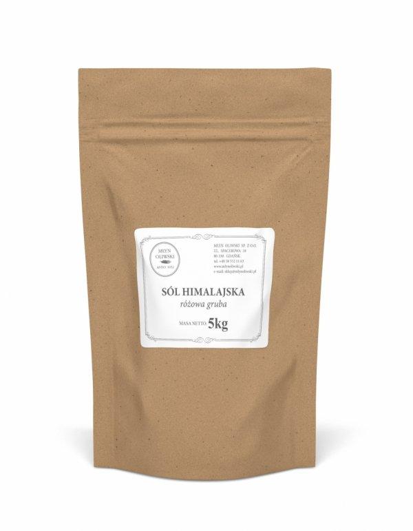 Sól himalajska różowa - gruba (3-5mm) - 5kg