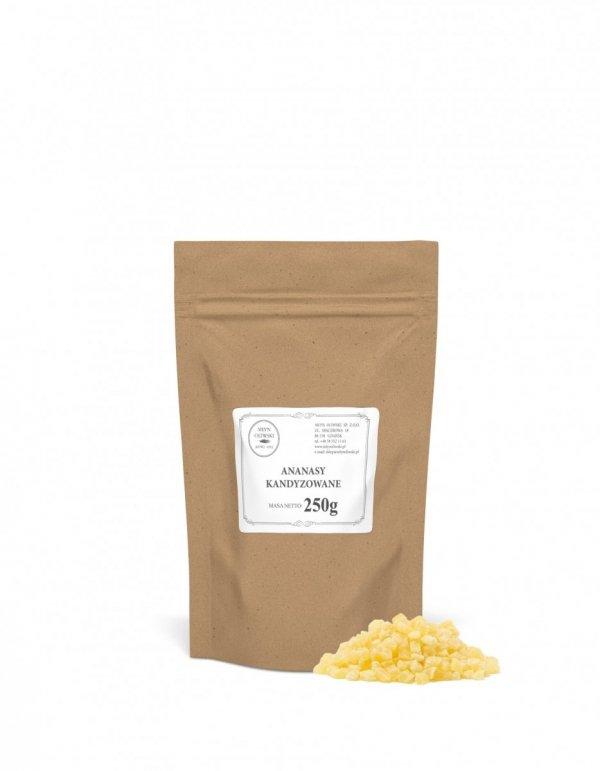 Ananasy kandyzowane - kostka - 250g