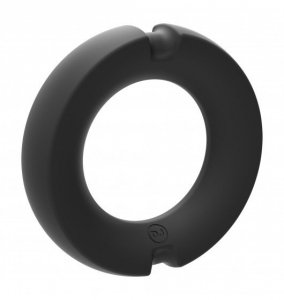 Kink Hybrid Silicone Covered Metal Cock Ring 35mm