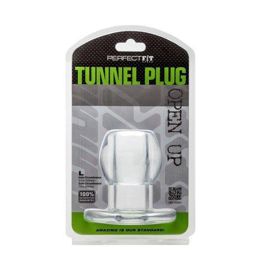 Perfect Fit - Ass Tunnel Plug rozmiar L (przeźroczysty)