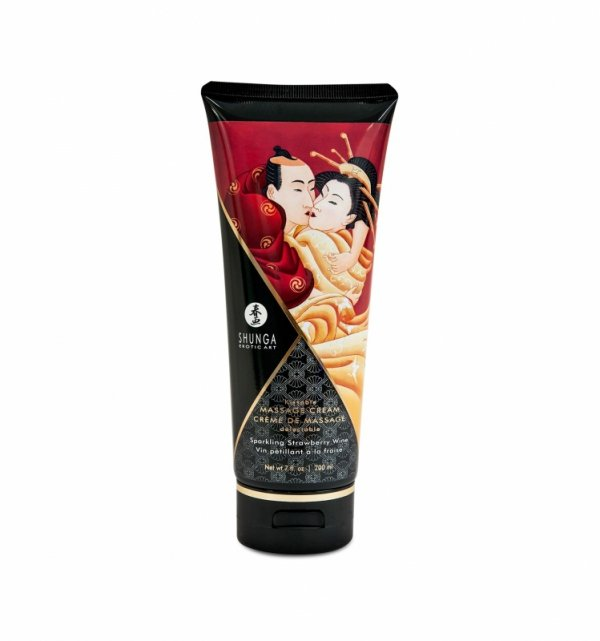 Shunga - Strawberry Wine Kissable Massage Cream 200 ml