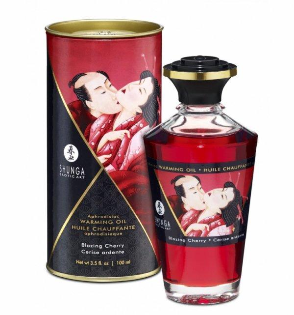 Shunga - Aphrodisiac Oil Blazing Cherry 100 ml