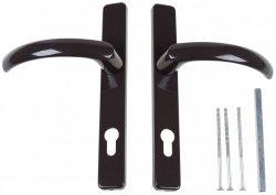 Klamka-klamka drzwiowa Jowisz 32 P Brąz 8019 92mm DS