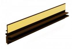 Listwa przyokienna Apu z uszczelką orzech 3m