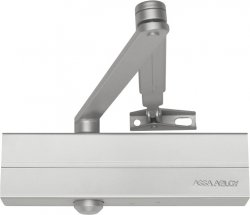 Samozamykacz Assa Abloy DC140 z ramieniem srebrny