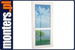 Drzwi balkonowe PCV 835x2240 EKOSUN R prawe białe