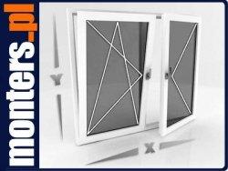 Okno PCV 1100x1450 Aluplast UR+R symetryczne