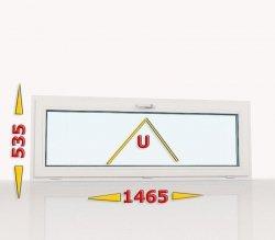 Okno PCV 1465x535 uchylne białe